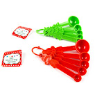 DDI 2319504 Christmas Measuring Spoons Red & Green - Case of 48