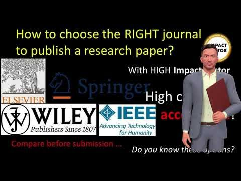 How to Select a Right Journal to Publish your Research Paper