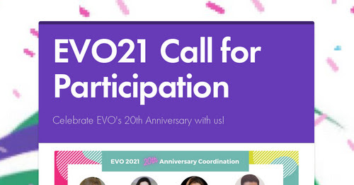 Proposals for EVO19