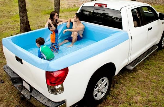 This Portable Truck Bed Swimming Pool Lets You Cool off Anywhere