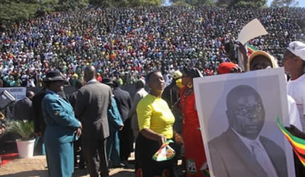 The Zimbabwe state funeral for Elias Kanengoni, the deputy director of the Central Intelligence Organization (CIO). Thousands of mourners gathered at Hero's Acre. by Pan-African News Wire File Photos