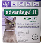 Bayer Advantage II Topical Flea Treatment for Cats - 4 pack