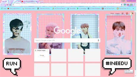 BTS Aesthetic Chrome Theme   ThemeBeta