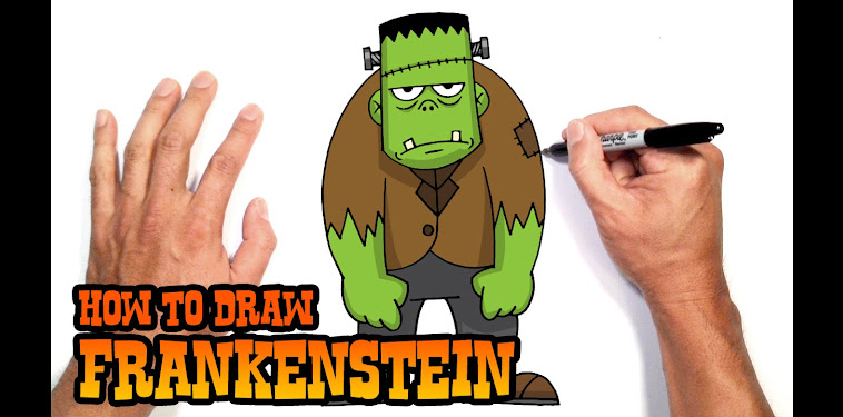 Frankenstein Drawing Easy