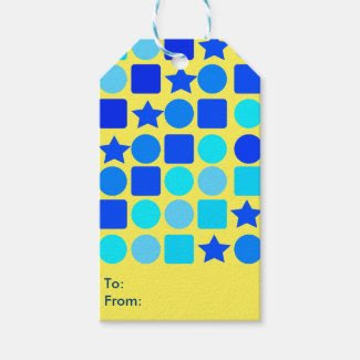 Blue Stars, Circles 'n' Squares Gift Tags