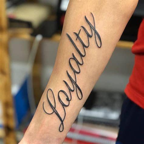 amazing loyalty tattoo designs