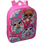 "Girls LOL Surprise 12"" Small Backpack Merbaby Baby Cat Super B.B."