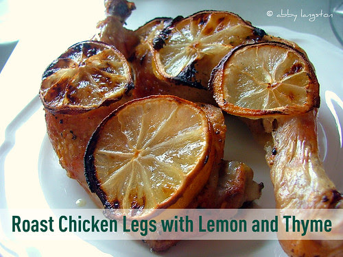 Roast Chicken Legs with Lemon and Thyme