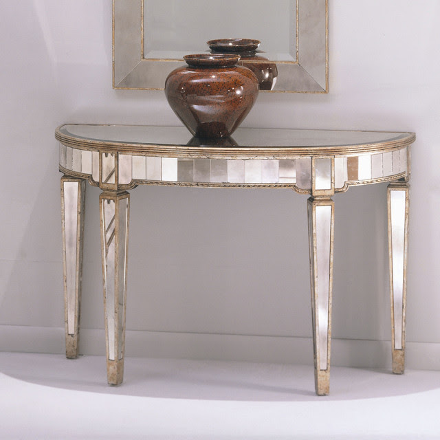 Bassett Mirror Borghese Console Table - contemporary - side tables ...
