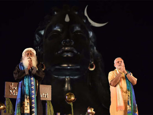 Narendra Modi unveils 112 ft Shiva bust, extols Yoga - The Economic Times