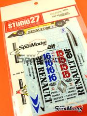 Calcas 1/20 Studio27 - Renault RE30B/30C Michelin Nº 15, 16 - Alain Prost, Rene Arnoux, Eddie Cheever - Campeonato del Mundo 1982 - 1983 - para kit de Tamiya TAM20018