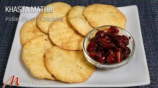 khasta mathri indian savory crackers recipe by manjula - Manjulas Kitchen 2