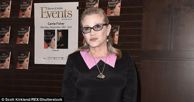 Tragedy: Carrie Fisher has passed away at the age of 60