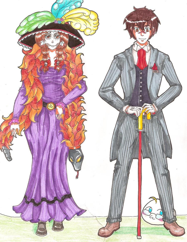 Catrina Y Catrin Animados