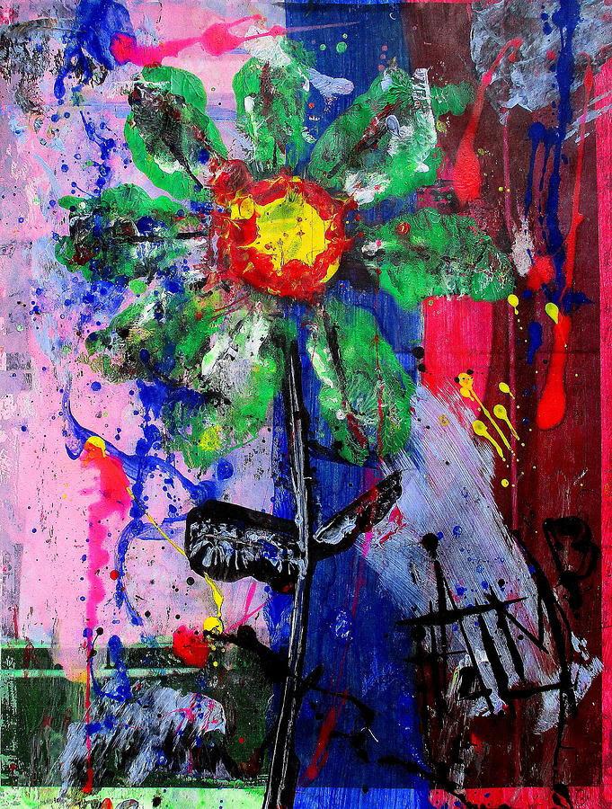 Green Flower II Painting