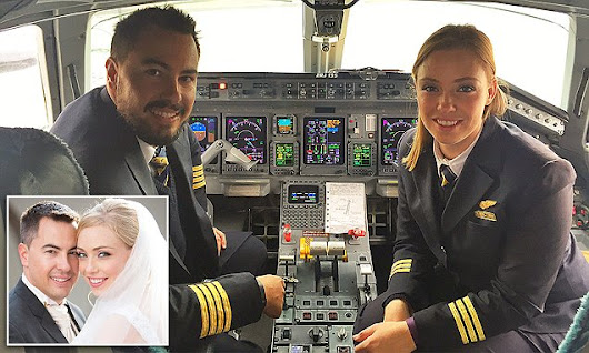 Married pilot couple reveal what it's like to share a cockpit