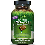 Irwin Naturals Pure Defense Mushroom-8 Immune Support - 60 Liquid Softgel