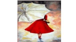 Tuval Boyama şemsiyeli Kadın Biletleri