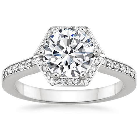 Hexagon Halo Engagement Ring   Dahlia   Brilliant Earth