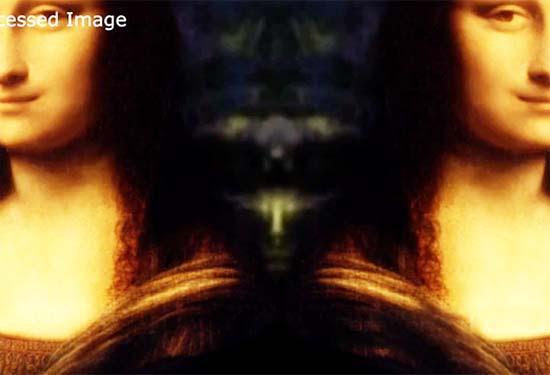 Ser extraterrestre oculto Mona Lisa
