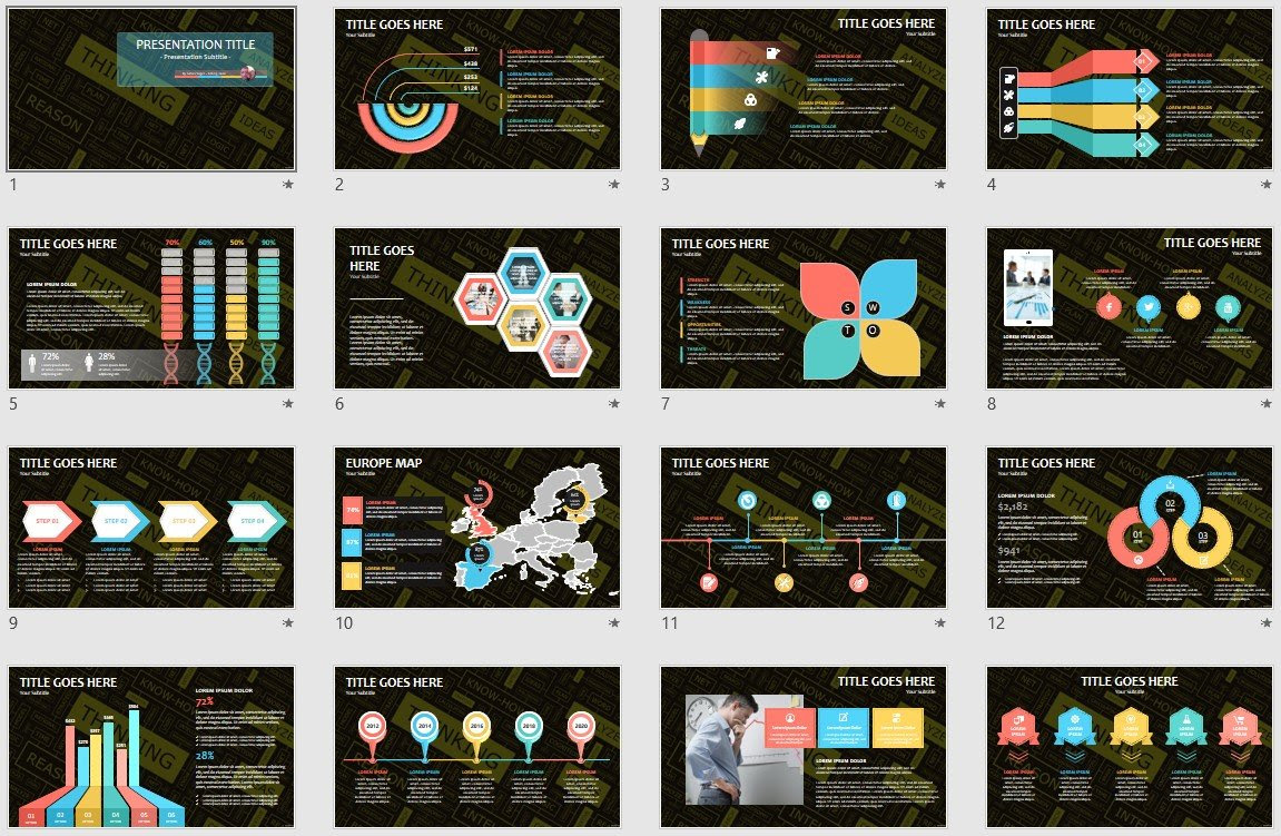 Thinking Powerpoint Template 138066