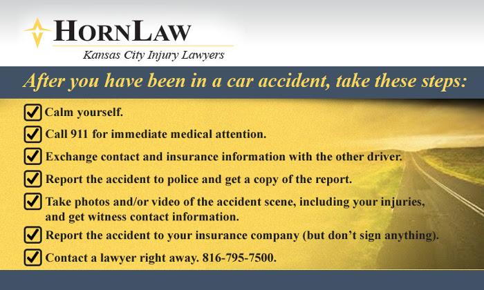 Kansas City Car Accident Checklist  Horn Law Firm, P.C.