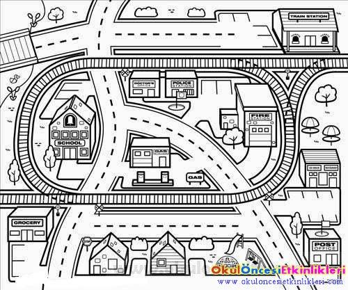 Karton şehrimizde Taşıtlar Ve Trafik Nasıl Okul öncesi