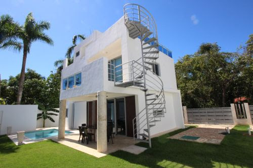 New modern home in popular beachside gated community Dominican Republic Real Estate Properties - Luxury Caribbean Villas and Beachfront Properties