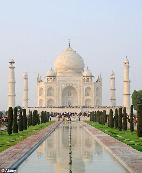The Taj Mahal, finished in 1648 byMughal emperor Shah Jahan in tribute to his third wife, Mumtaz Mahal, was the basis for Aladdin's castle