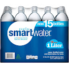 Glaceau Smart Water - 15 pack, 33.8 fl oz bottles