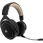 CORSAIR - HS70 SE Wireless Over-the-Ear Gaming Headset for PC - Black/Cream