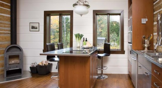 cuisine bois inox. Black Bedroom Furniture Sets. Home Design Ideas