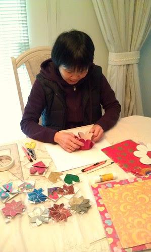 Yolanda Cheung folding paper