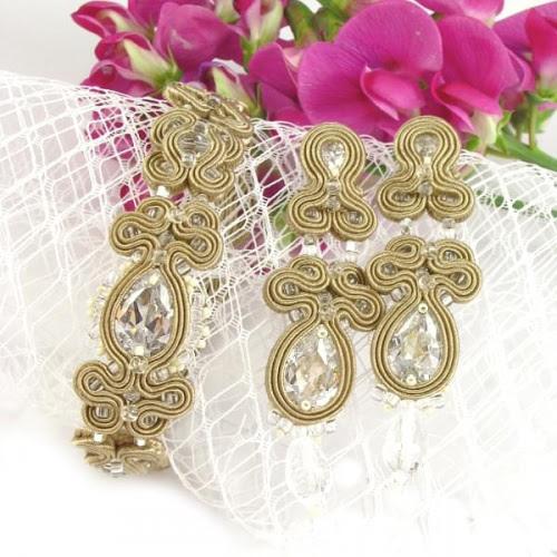 Sutaszowa biżuteria ślubna