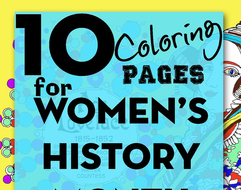 10 Coloring Pages For Women S History Month