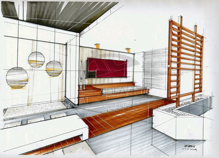 Bedroom Interior Design Drawing | Drawings | Pinterest ...