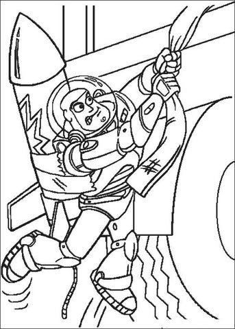 Buzz Lightyear Tries To Go Up coloring page ...