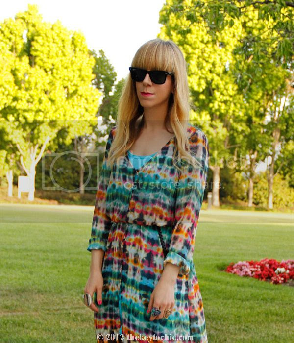 Zara tie dye dress, Topshop Unique, Los Angeles fashion blogger