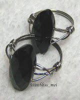 Wire wrapped Black Onyx Rings