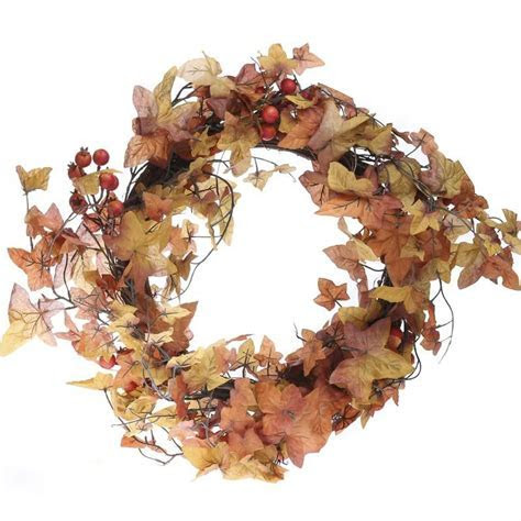 Fall Artificial Maple and Berry Wreath   Wreaths   Floral