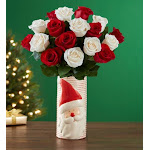 Christmas Rose Bouquet - Holiday Arrangements by 1-800 Flowers