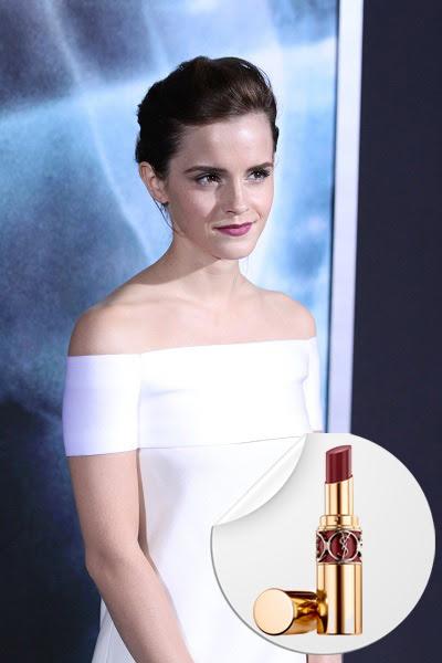 Emma Watson wearing purple lipstick