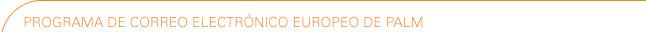 Programa de correo electrónico europeo de Palm