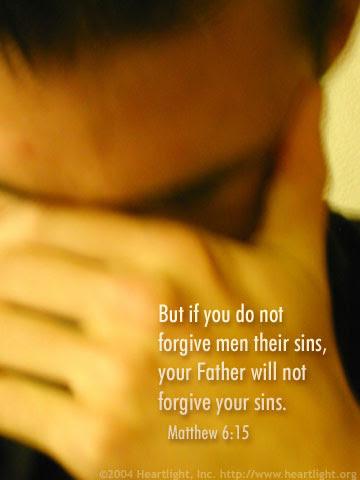 Inspirational illustration of Matthew 6:15