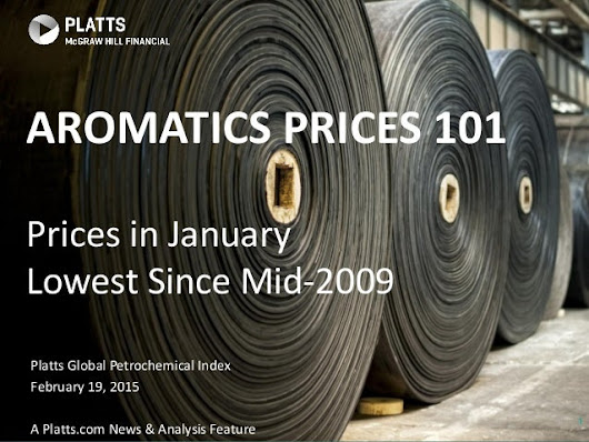 Platts Global Petrochemical Index Feb 2015 - Aromatics