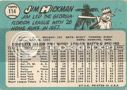 #114 Jim Hickman (back)