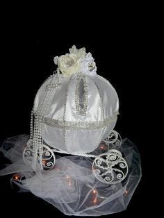 Blinged out Carriage Cinderella card holder box