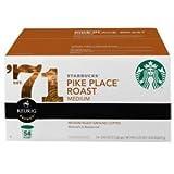 お買い得(54パック入り)K-Cup 用 シアトルパイクプレースロースト コーヒー(54 pks) Starbucks K-Cups for Keurig Brewers, Pikes Place Roast, 54-Count