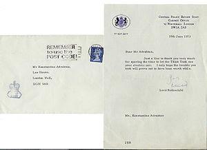 LORD ROTHCHILD - UK CABINET