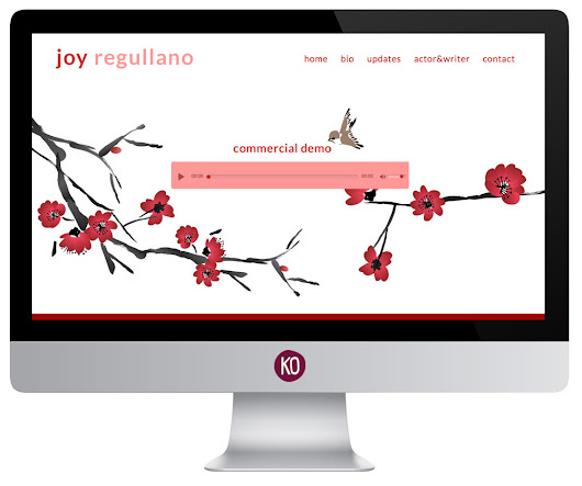 Joy Regullano Actress and VO  | Kathy Osborne: Print & Web Designer